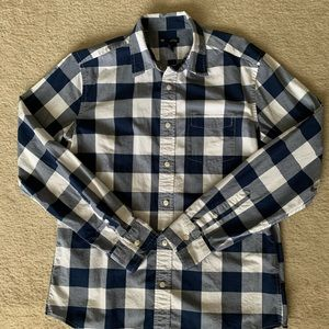 Plaid Long Sleeve Button Up - Gap